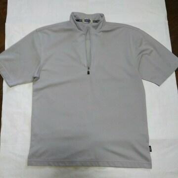 半袖 速乾性 ポロシャツ ジップアップ