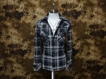 (定価148500)バックラッシュ・ピッグスエードチェックシャツ