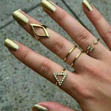 ファランジ リング ミディリング 指輪 5個 セット  ゴールド (金