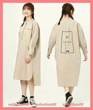 ミルクフェド☆超美品完売レアバックロゴチュニックシャツワンピ