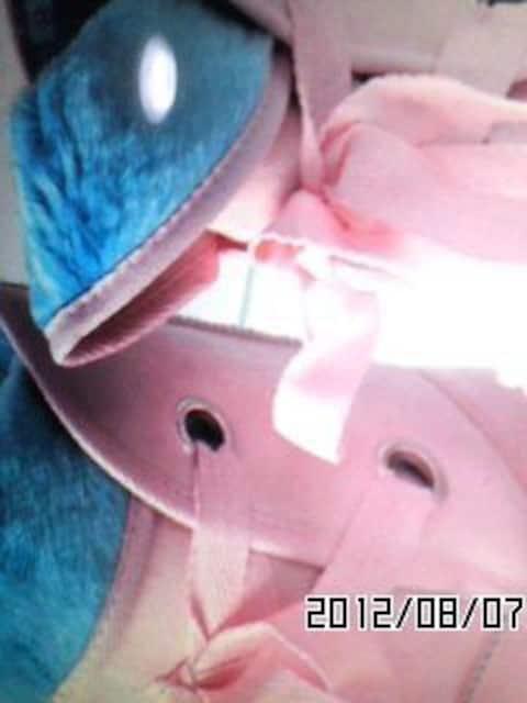 ★超カワ★編み上げモコモコムートンブーツ★PK/BL★ < 女性ファッションの