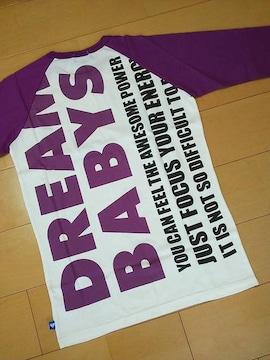 新品スーパーマンラグランロンT紫LベビドBABYDOLLベビードール