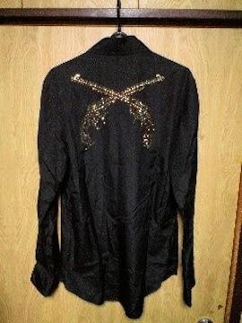 Roarロアー 総スワロフスキー2丁拳銃ドレスシャツ 3