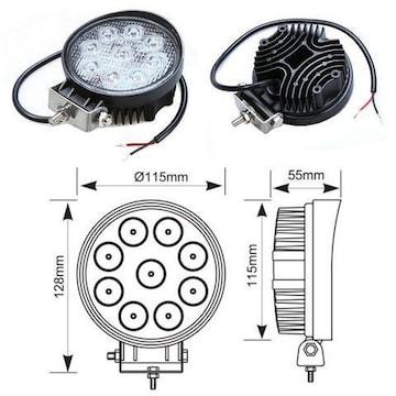 12V24V用/2個!27W-LEDライト作業灯投光器/レッカー トラックに!