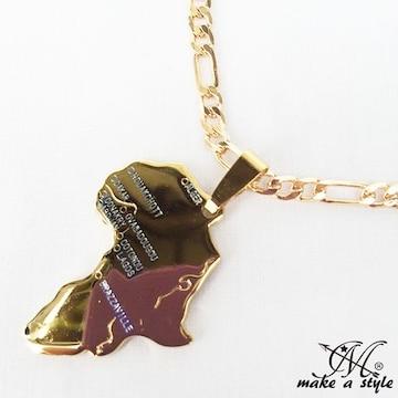 マップ フィガロ チェーン 金 ゴールド GOLD ネックレス 593