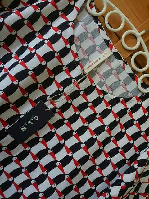 ●C.L.N●バードシーチング プルオーバー 新品 レッド < 女性ファッションの