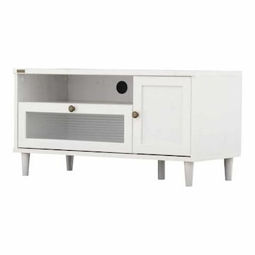 ローボード テレビ台(90cm幅)ホワイト PW46-90L_WH