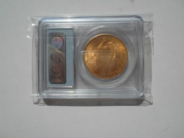 米国 1907年 $20 金貨 セントゴーデンズ PCGS MS65 鑑定済み  < ホビーの