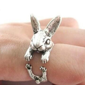 新品 ラビット リング シルバー うさぎ ウサギ 指輪