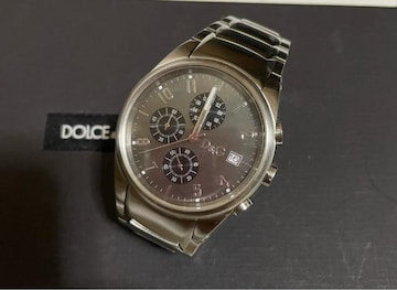1スタ 美品☆ドルチェ&ガッバーナ クロノグラフシルバー腕時計
