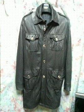 シェラックshellac44レザージャケットコート黒