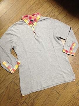 美品BEAMS 7分丈ポロシャツ ビームス