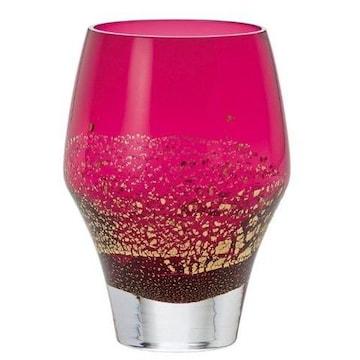 バカ売れ!江戸硝子 タンブラー 紅玻璃 日本製 330ml