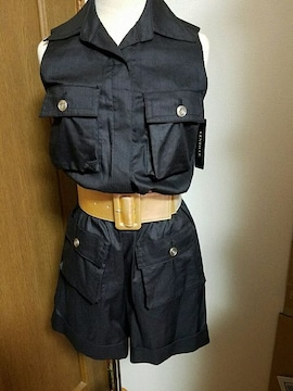 ☆LENTILLE☆ベルト付きロンパース☆新品タグ付き☆