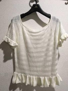 WEGO ウィゴー フリル 半袖 Tシャツ トップス 白 ホワイト レディース