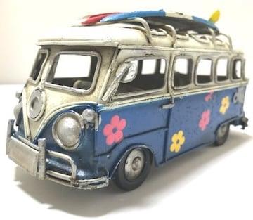一点物ブリキのおもちゃシリーズ�Eワーゲンバス風ブリキ