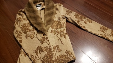 ★MORGAN DE TOI★ファー付きストレッチジャケット★