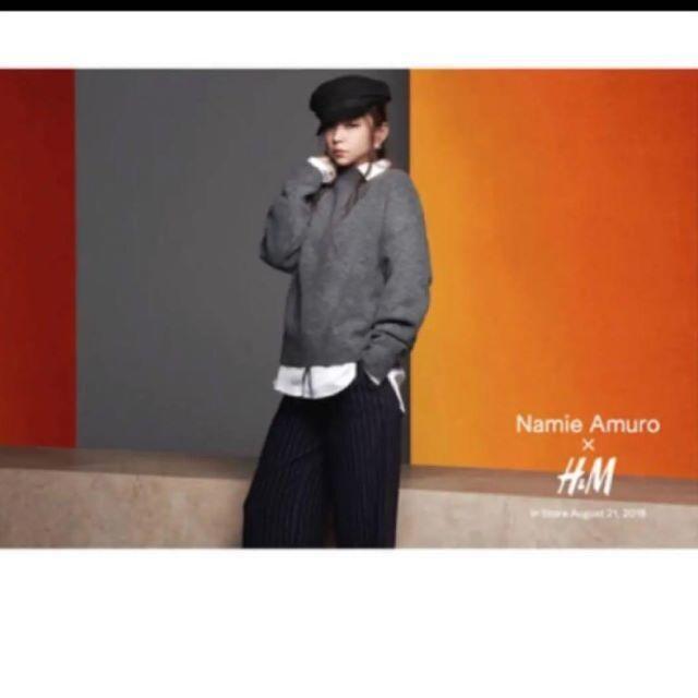 安室ちゃん 安室奈美恵 H&M ニット セーター 薄い茶色 < 女性ファッションの
