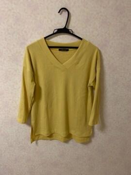 イングINGNIカラシ色マスタード色 七分袖カットソー美品M〜L