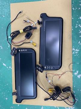 激安輸入中古バイザ-モニタ-左右通電確認済12.2インチワイドモニタ-送料無料