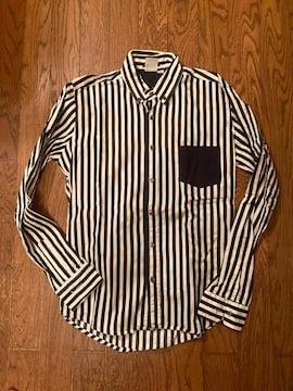 (株)MOON SHOT 長袖 ストライプ シャツ 日本製 古着