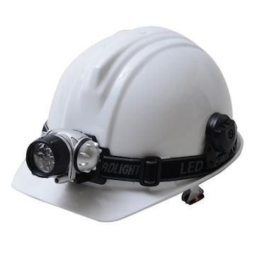 LEDヘッドライト付ヘルメット