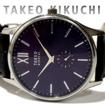 良品 タケオキクチ/TAKEO KIKUCHI【スモセコ】メンズ腕時計