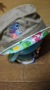 新品  ディズニー ストア  スティッチ ハワイアン 花柄 帽子 パイナップル 可愛い