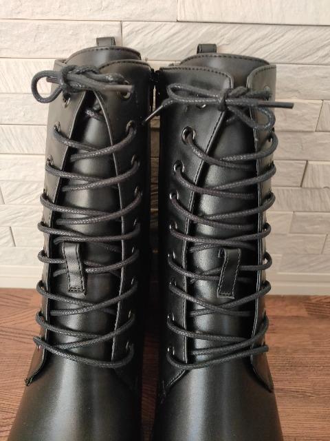 新品 マウジー レースアップ レザー ブーツ 黒 L 24〜24.5�p < ブランドの