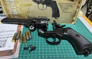 ウェブリーリボルバー wingun webley ガスガン モデルガン玩具
