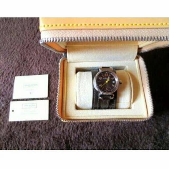 本物 美品 ルイヴィトン タンブール レディース腕時計 ブラウン  < ブランドの