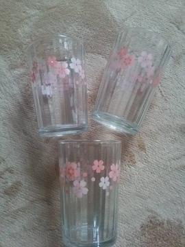 桜模様 3個 未使用