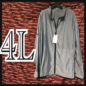 4L・無地ジッパーシャツ 新品/MC01P501-005