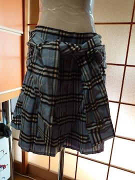 *大きいサイズ*シャツ巻風キュロットスカート*5L*