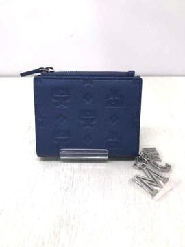 MCM(エムシーエム)Klara 2 Fold Flat Wallet in Monogram Leather Char