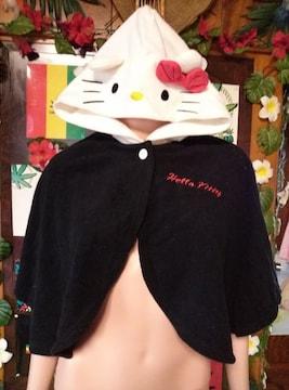 Hello Kitty♪キティちゃん☆フェイスフード激カワ!ポンチョ♪
