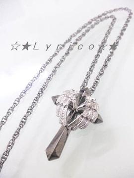 天使の羽/メール便無料★シルバー*クロスネックレス/R