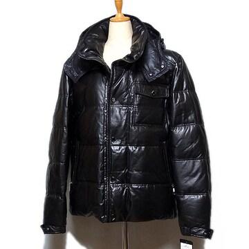 新品【COGGIOLA】羊革ダウンジャケット ブラック LL