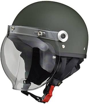 リード工業 バイクヘルメット ジェット CROSS バブルシールド付