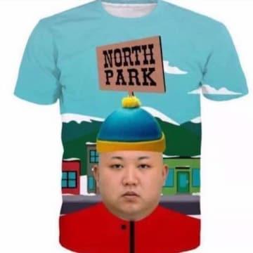 SALE最安 北朝鮮 金正恩委員長 Tシャツ 送料無料