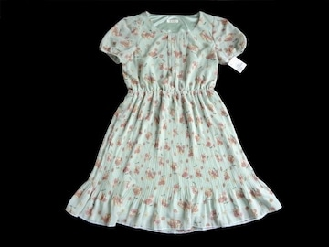 新品 プーラフリーム 花柄 プリーツスカート ワンピース
