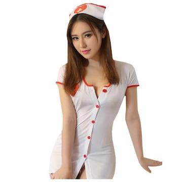 コスプレ 白衣の天使 ナース服 網タイツ セット XXXLサイズ