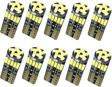T10 LED ホワイト 4014 チップ12V 10個
