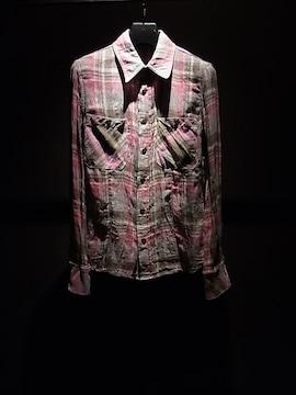 (定価49350)バックラッシュBACKLASH・チェックプリントシャツ