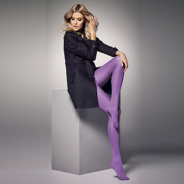 EU製 マットな厚手マイクロファイバータイツ 深紫