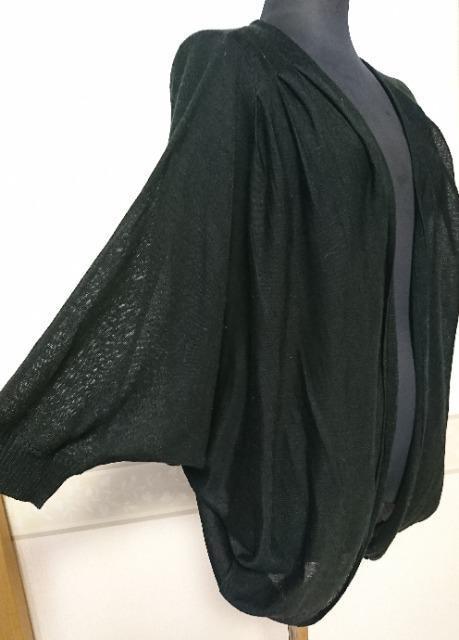 Moderate 未使用タグ付き 透かしニットカーディガン  黒  < 女性ファッションの