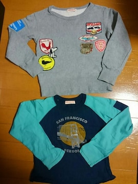 ☆美品☆パーソンズ☆トレーナー&長袖Tシャツ 2点セット☆110120