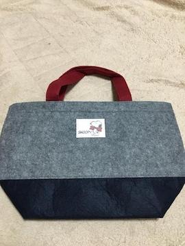 新品  スヌーピー フェルトランチバッグ トートバッグ