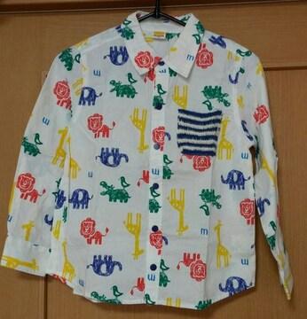 ムージョンジョン☆新品☆動物柄のシャツ☆size130