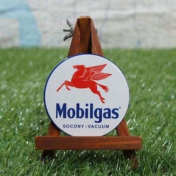 新品【マグネット】Mobil/モービル Pegasus 丸型